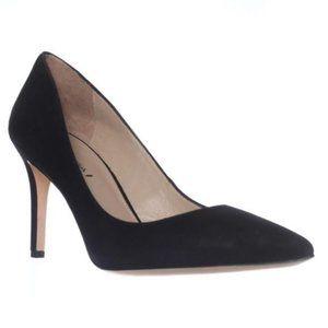 New Via Spiga black suede heels